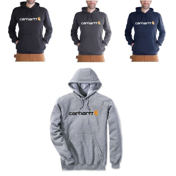 CARHARTT Fleece Signature Logo Hooded Sweatshirt
