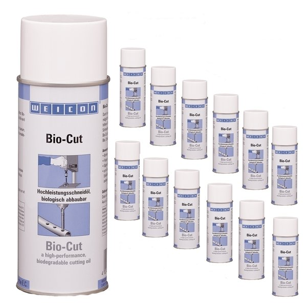 WEICON Bio-Cut Bohr-/Schneidöl Spray 400ml - 12er Pack