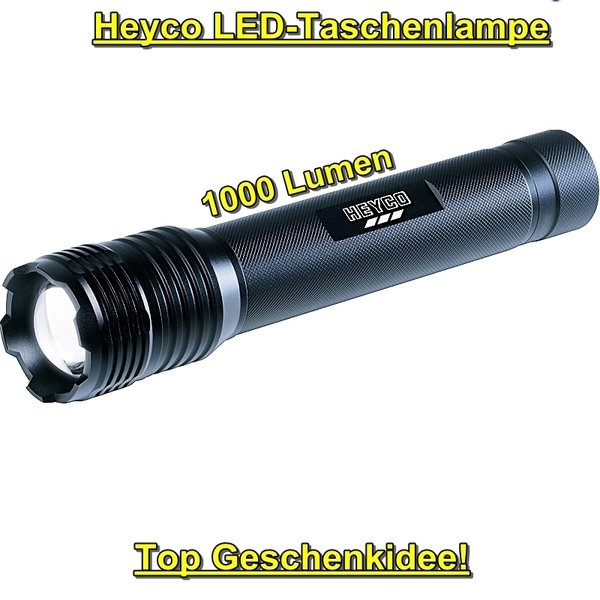 HEYCO High Power LED-Taschenlampe 1000lm
