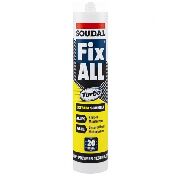 SOUDAL Fix All Turbo - Universal-Kleber 290ml-Kartusche weiß