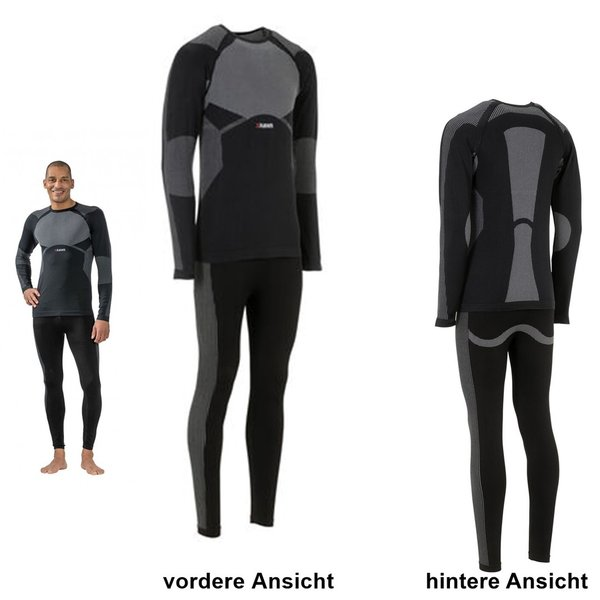PLANAM Funktionsunterwäsche-Set FIT in schwarz - 2-tlg.